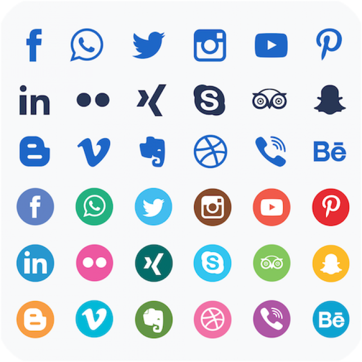 PowerPoint - Social Media Icons