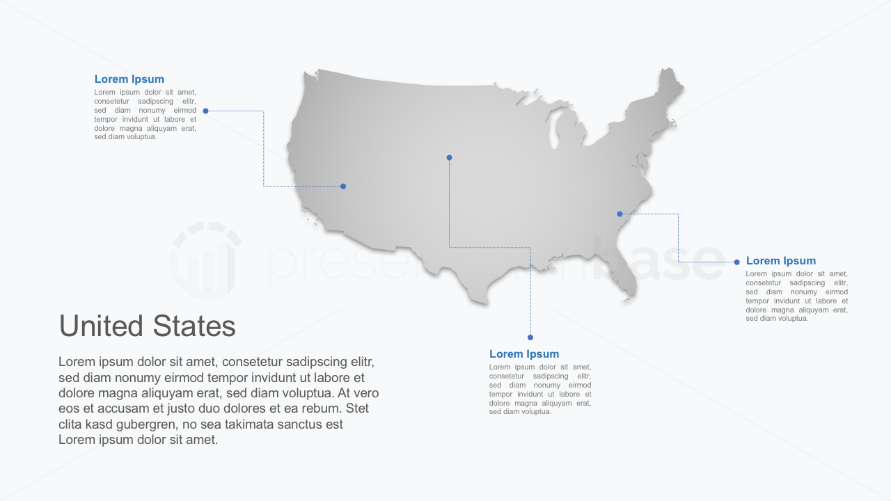 PowerPoint Map - USA