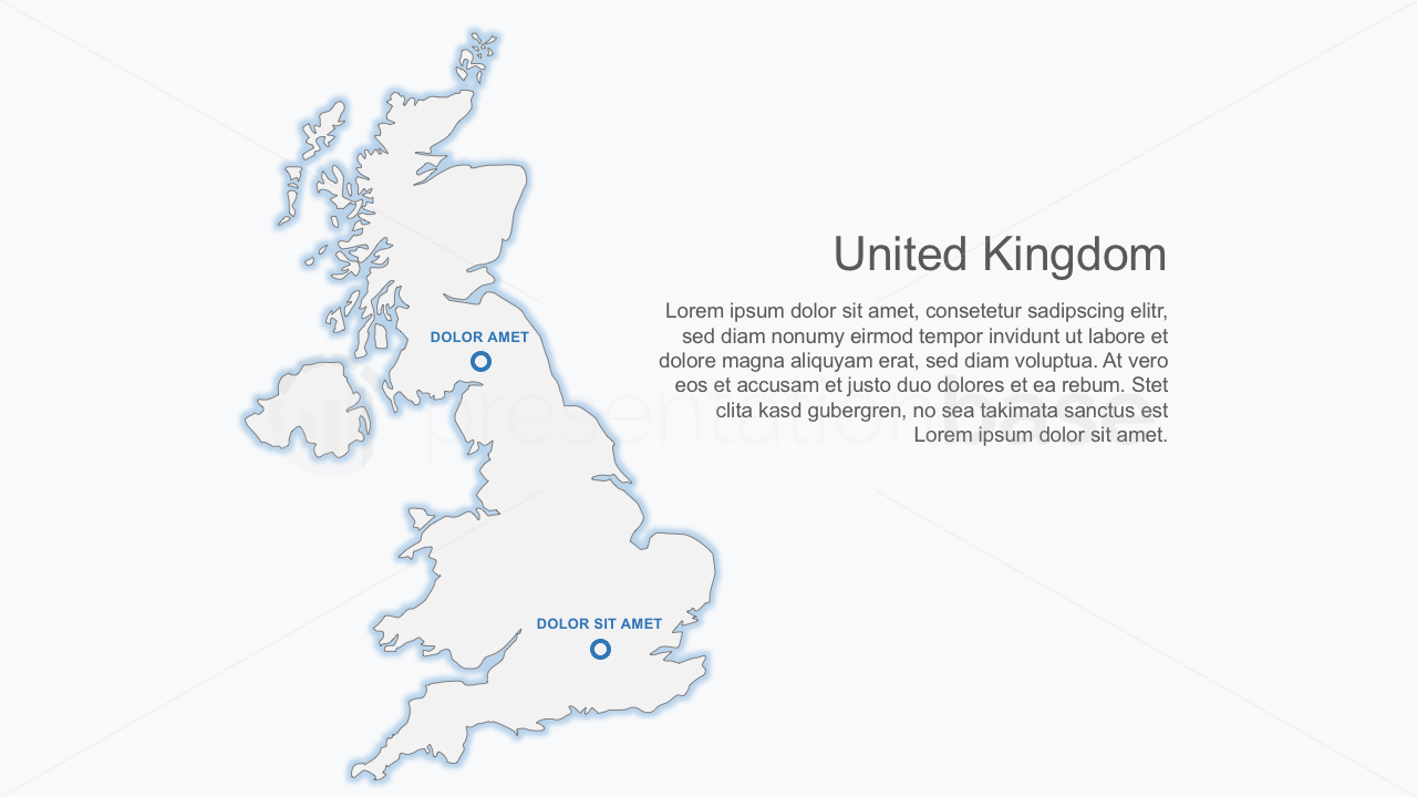 PowerPoint Map - United Kingdom