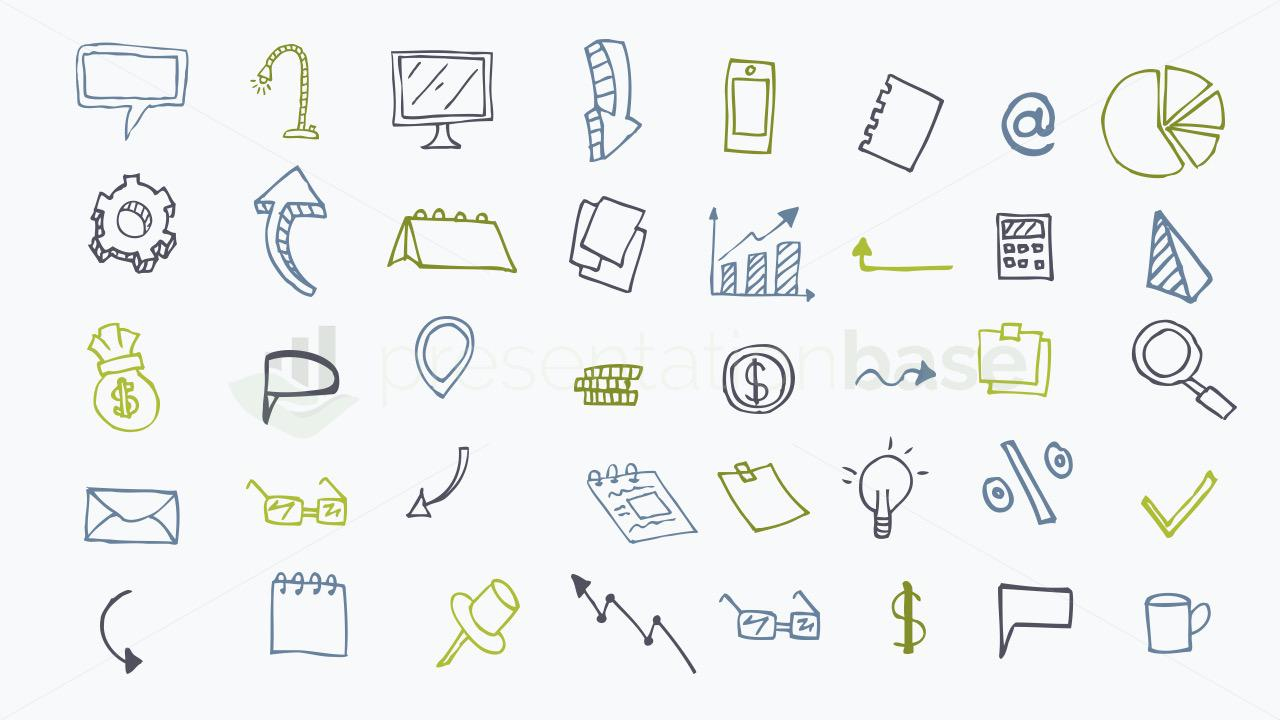 Hand drawn icons for PowerPoint