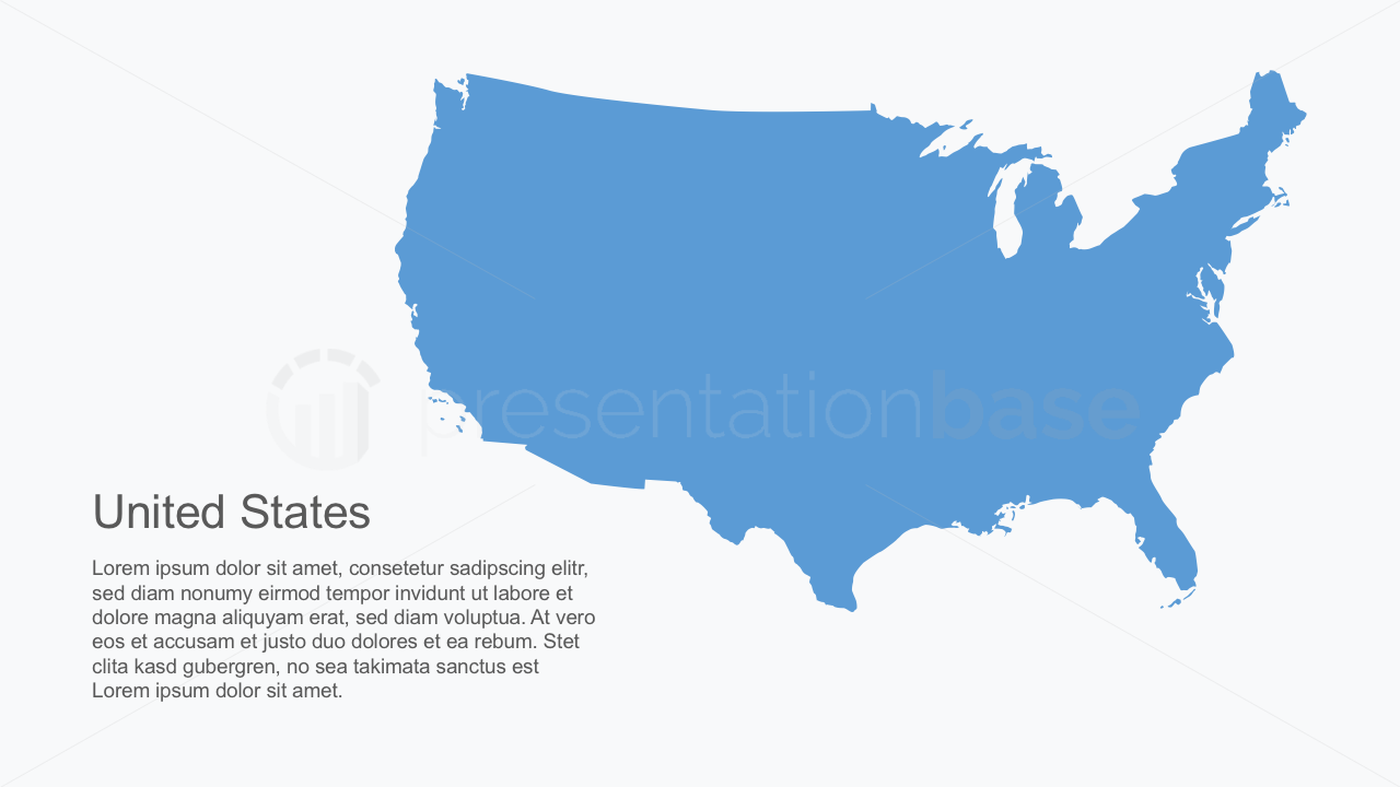 interactive powerpoint map of usa north america map outline