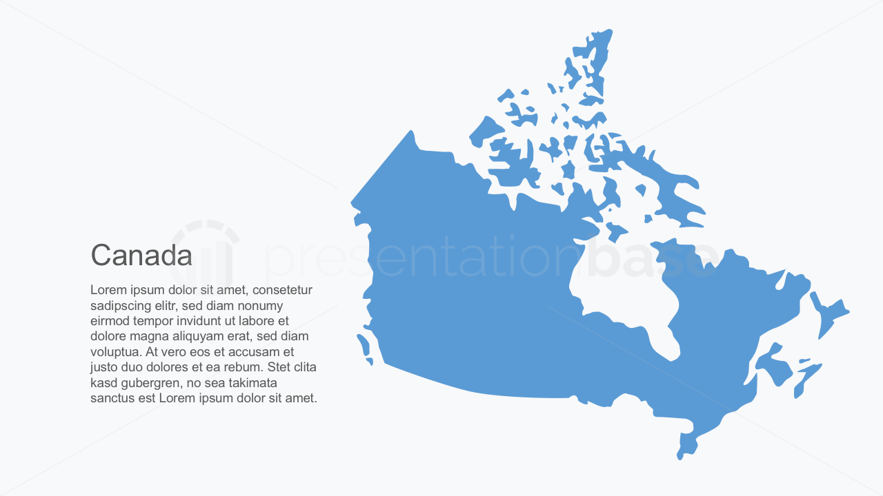 presentation base powerpoint map canada