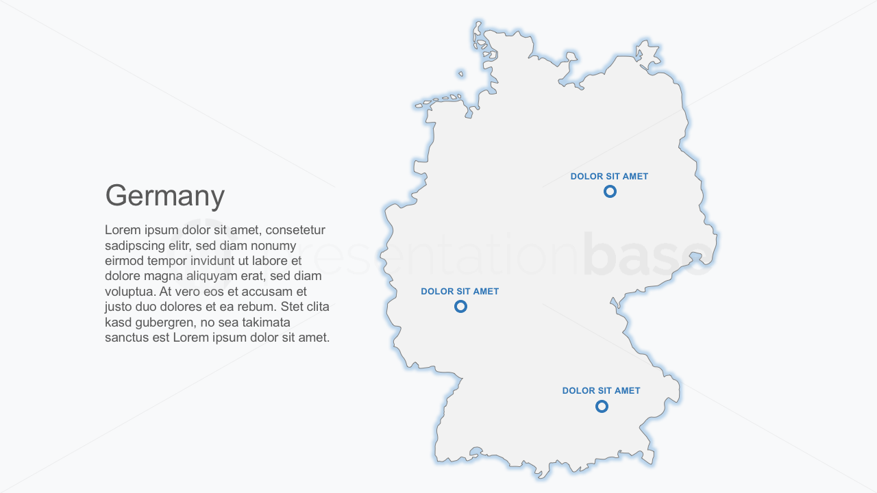 PowerPoint Map - Germany