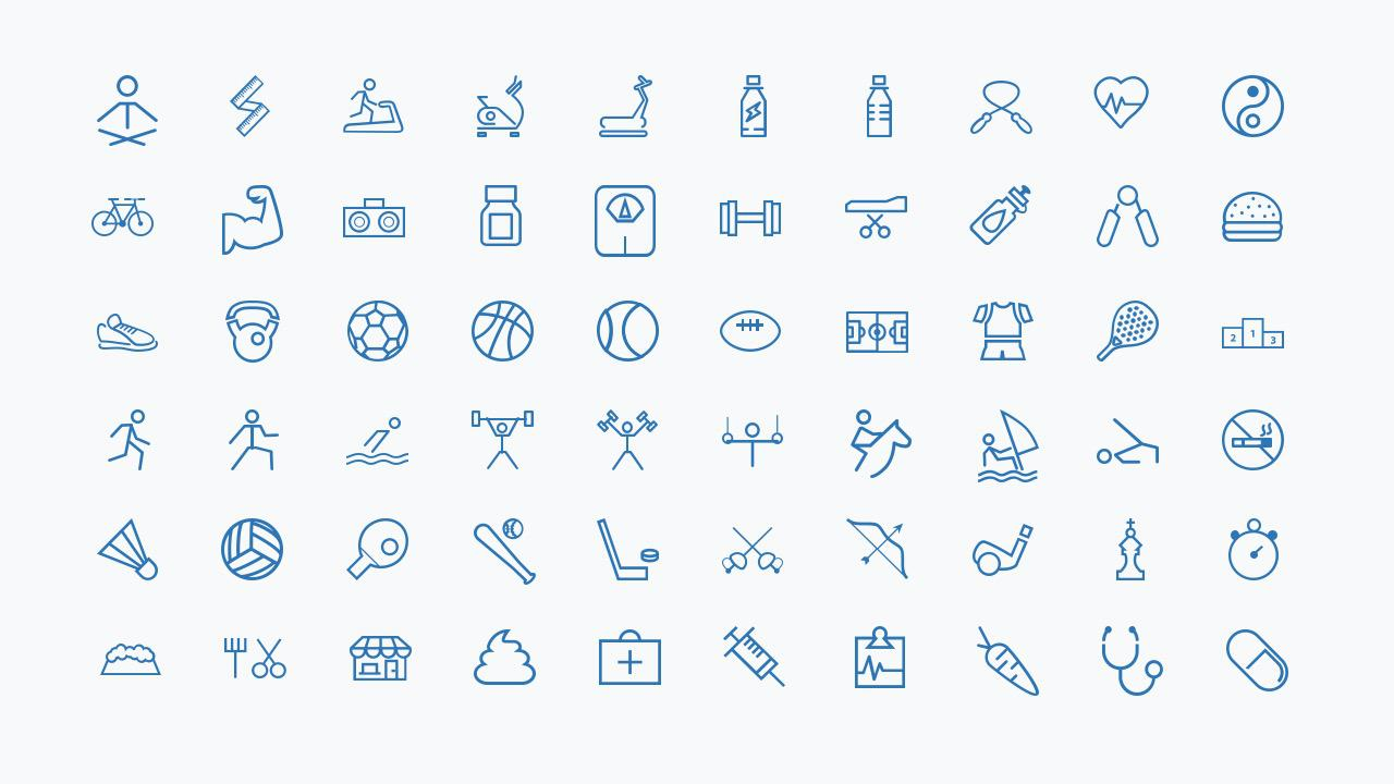 PowerPoint template icons