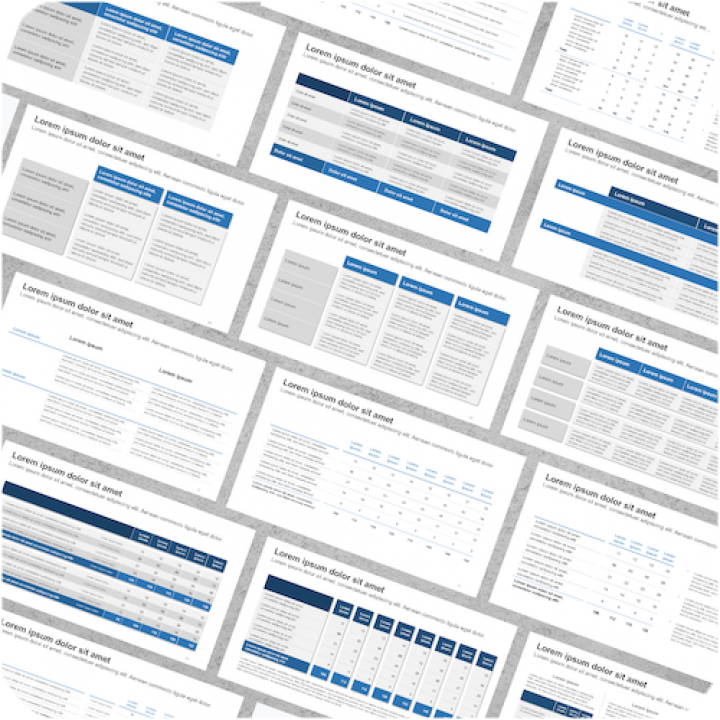 PowerPoint Presentation Tables